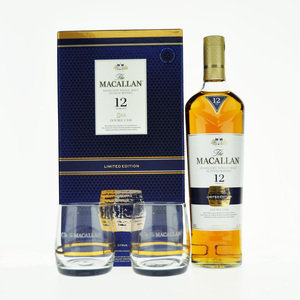 Macallan 12 Year Old Double Cask Single Malt Scotch Whisky With Glasses- 70cl, 40% vol.