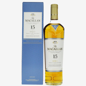 Macallan 15 Year Old Triple Cask Single Malt Scotch Whisky - 70cl, 43%