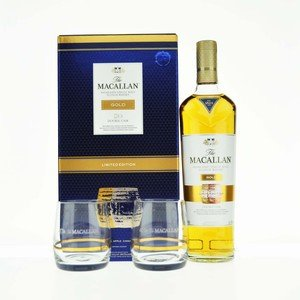 Macallan Gold Double Cask Single Malt Scotch Whisky With Glasses- 70cl, 40% vol.