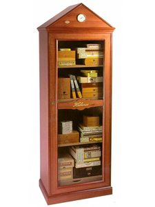 Monarca - Free Standing Showcase Humidor - Mahogany Finish