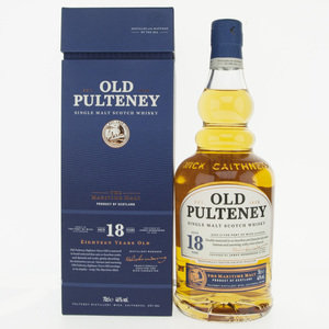 Old Pulteney 18 Year Old Single Malt Scotch Whisky - 70cl, 46%
