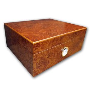 Oxford Dark Burl Humidor - Best Seller - 40 Cigar Capacity