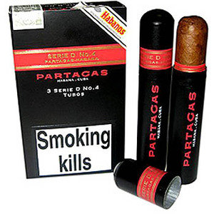 Partagas Serie D No. 4 Tubed Cigar - Pack of 3