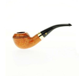 Peterson Gold Mounted Supreme Pipe - 999 Natural