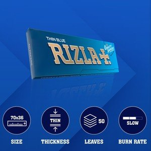 Rizla Blue Regular Size Rolling Papers - 1 pack