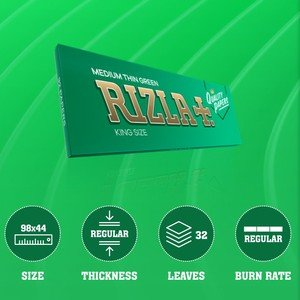 Rizla Green King Size Rolling Papers - 1 pack