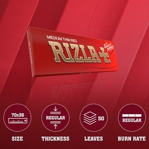 Rizla Red Regular Size Rolling Papers - 1 pack