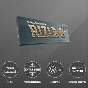 Rizla Silver Regular Size Rolling Papers - 1 pack