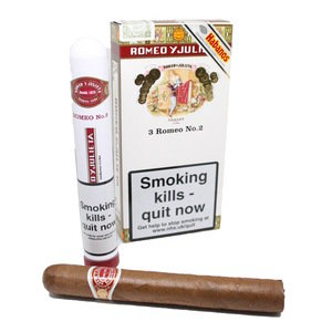 Romeo y Julieta No. 2 Tubed Cigar - Pack of 3