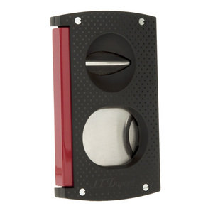 ST Dupont Cigar Cutter - Double Blade Black & Red - 3420