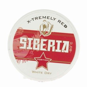 Siberia Red -80 Degrees White Dry Portion Chew Bags