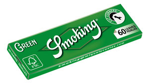 Smoking Green Regular Size Rolling Papers