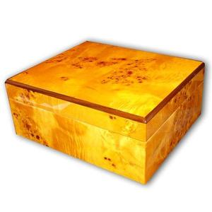 Sombre Humidor  Light Gloss Burl - 25 Cigars Capacity