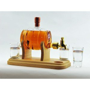 Stylish Whisky Whisky Barrel plus 4 Glasses on Display Plinth 350ml 40.0%