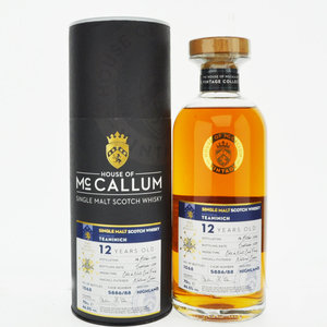 Teaninich 12 Year Old House of McCallum Vintage Single Malt Scotch Whisky - 70cl, 46.5% vol.