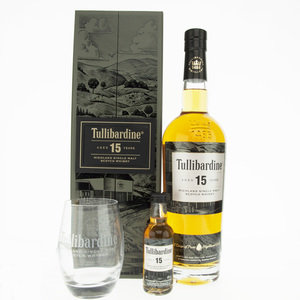 Tullibardine 15 Year Old Single Malt Scotch Whisky Bundle - ISC Double Gold Winner 2020 - 70cl, 43% vol.