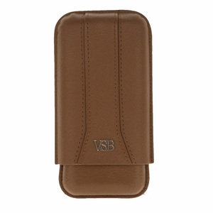 VSB London Brown Leather Cigar Pouch