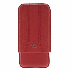 VSB London Red Leather Cigar Pouch