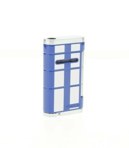 Xikar Allume Single Jet Lighter - Blue & White (532BLWH)