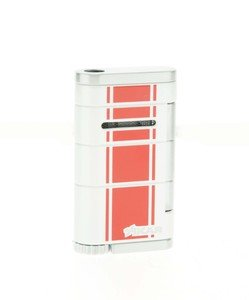 Xikar Allume Single Jet Lighter - White & Red (532WHRD)