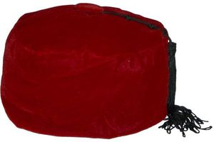 Velvet Havana Cigar Smoking Cap - Red