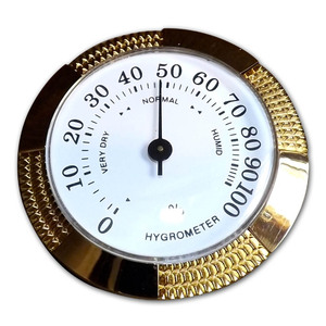 Analogue Hygrometer - Medium - Brass Finish - 2 1/2 inch