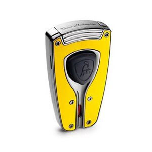 Lamborghini Forza Yellow Carbon Fiber Torch Lighter