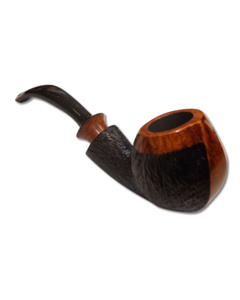DB Briar Pipe - Bent - Rustic Finish