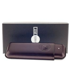 Dunhill Bulldog Cigar Case Corona Extra - Purple - Fits 2 Cigars