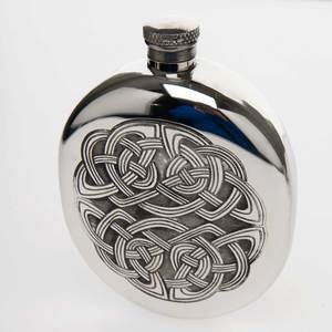 Celtic Wedge Hip Flask 9 (CEL177)