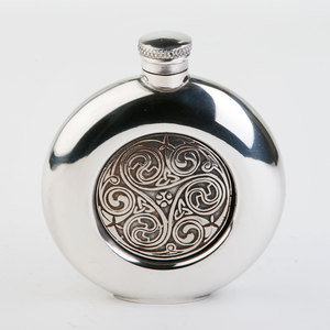 Round Kells Hip Flask (CEL196)
