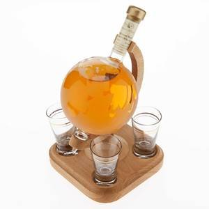 Stylish Whisky Globe & 4 Glasses