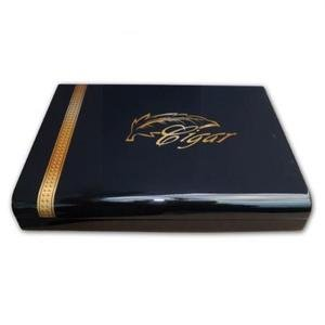 Angelo High Gloss Black Cigar Humidor - 20 Cigars capacity
