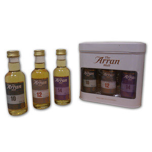 Arran Single Malt Scotch Whisky Gift Set (10, 12, 14) - 3x5cl