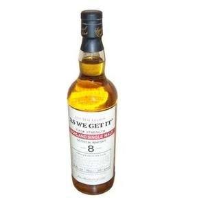 As We Get It 8 Years Old Highland  Whisky (70cl 57.8%)