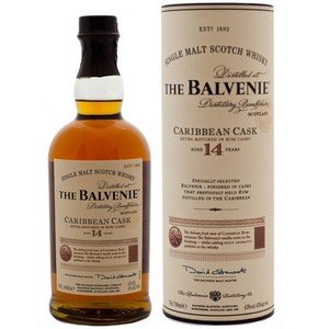 Balvenie 14 Year Old Caribbean Cask Single Malt Scotch Whisky (43% 70cl)