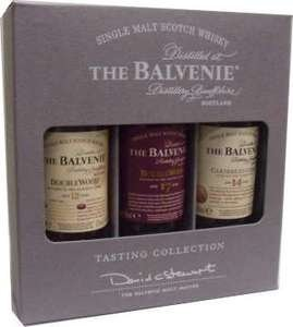 Balvenie Single Malt Scotch Whisky Miniature Gift Set - 3 x 5cl