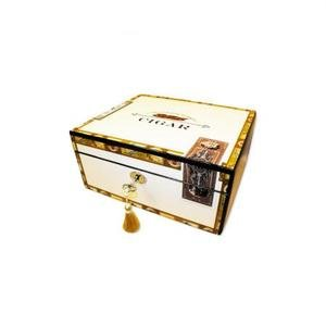 Cigar Box Theme Humidor - up to 60 Cigar Capacity