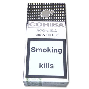 Cohiba Club White Cigarillos - Pack of 10