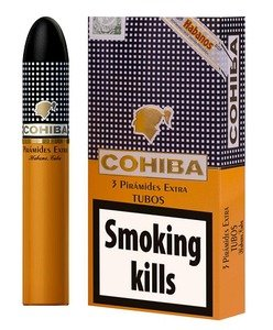 Cohiba Piramides Extra Tubed Cigar - Pack of 3