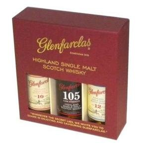 Glenfarclas Single Malt Scotch Whisky Miniature Gift Pack (10,105,15) 3x5cl
