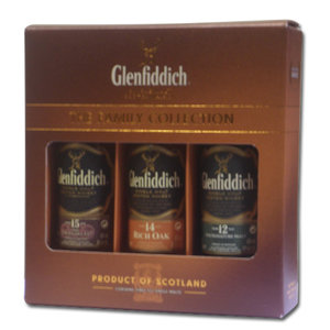 Glenfiddich Taster Pack (12, 14, 15) - 3x5cl 40%