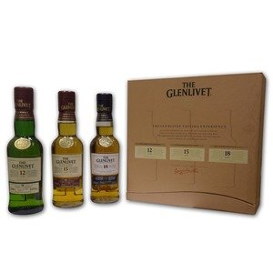 Glenlivet Single Malt Scotch Whisky Gift Set (12, 15, 18) - 3 x 20cl