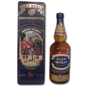 Glen Moray 16 Year Old Single Malt Scotch Whisky Queens Own Highlanders Tin 70cl 40%