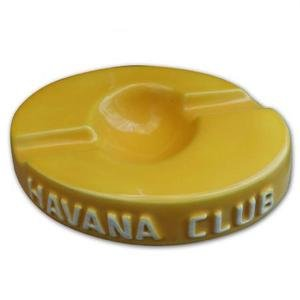 Havana Club Collection Ashtray - El Socio Double Cigar Ashtray - Corn Yellow