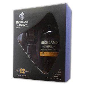 Highland Park 12 year old giftset with 2 glasses 70cl
