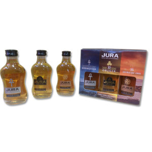 Isle of Jura Scotch Whisky 3x5cl gift pack