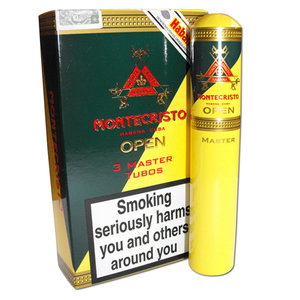 Montecristo Open Master Tubed Cigar - Pack of 3