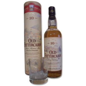 Old Fettercairn - 10 Year Old Single Malt Vintage Bottling with Glass (70cl, 40% ABV)