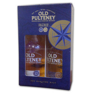 Old Pulteney 12 and 17 years gift pack 2x35cl
